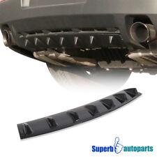 """ABS 33"""" Glossy Black Rear Shark Fin Lower Vortex Generator Bumper Spoiler"""