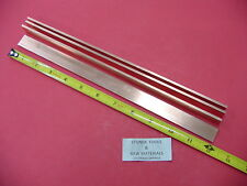 "4 Pieces 1/8"" x 3/4"" C110 COPPER BAR 12"" long Solid Flat Mill Bus Bar Stock H02"