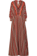 Missoni Embellished Metallic Crochet Knit Kaftan Size 44 UK 12 LF170 ii 17