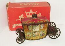 W & R Jacob Co. ( Jacob's) Coronation Coach Novelty Biscuit Tin c1937 Boxed RARE