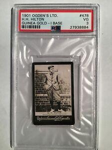 1901 Ogdens Guinea Gold Numbered #478 Harold Hilton PSA 3
