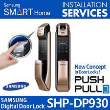 Samsung SHP-DP930 Smart Door Lock Fingerprint Number Bluetooth Push From Outside