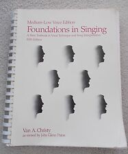 Christy Foundations Singing Med Low Voice Rev Paton Spiral