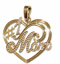 Mom #1 Pendant 18k Gold Plated with 20 inch Chain - Mom Necklace - Mothers Day