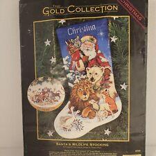 The Gold Collection Santa's Wildlife Stocking Cross Stitch Kit No. 8566 vintage