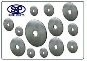 M5 M6 M8 M10 x 25MM A2 STAINLESS STEEL REPAIR WASHER PENNY WASHERS ST/STEEL A2