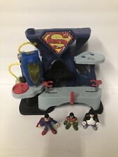 Imaginext Superman Fortress of Solitude Playset Mattel W/ 3 Figures