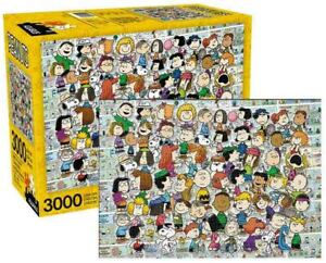 3000 piece Jigsaw Puzzle PEANUTS Cast Licensed by Aquarius Charlie Brown, Snoopy