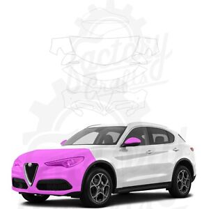 Paint Protection Film Clear PPF for Alfa Romeo Stelvio 2018-2021 Half Front
