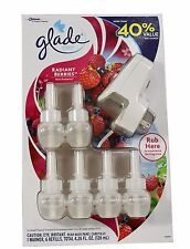 Glade Plugins Radiant Berries 6 Pack Scented Oil Refills W/Warmer Air Freshener