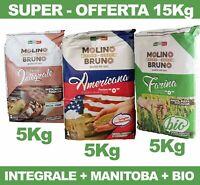 Farina Biologica Americana Manitoba Integrale  tipo 0 da Pizza Pane Dolci 15 Kg