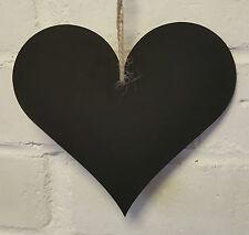 Shabby Chic Heart Chalkboard 15cm 6 inch Shaped Hanging Blackboard Home Wedding