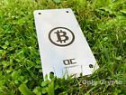 Recovery seed Crypto Passphrase Hardware wallet metal plate - BTC Logo