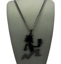 MENS LARGE HIPHOP BLACK HATCHET MAN STAINLESS STEEL PENDANT CUBAN CHAIN NECKLACE