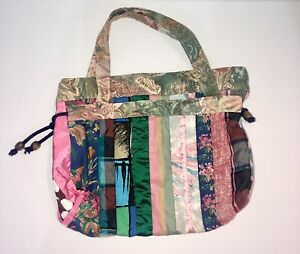Handmade Quilted Patchwork Tote / Baby Girl Nappy Bag