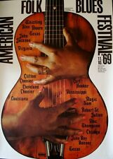 AMERICAN FOLK AND BLUES 1969 German A0 (33x47) concert poster GUNTHER KIESER