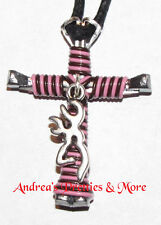 Disciple's Cross Horseshoe Nail Necklace - Wire Wrapped Cross - Browning Buck