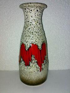 Vase Scheurich 293-26 H: 26 cm WGP Zig Zag 293 Shape FAT LAVA VOLCANO GLAZE LOOK