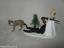 Wedding Party Reception Wild Coyote Hunter Hunting Cake Topper