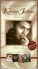 KARAN JOHAR PRESENTS MUSIQUE DE 4 CDS + 1 DVD BOLLYWOOD