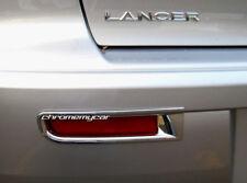 Chrome Rear Fog Light Reflector trim Garnish for Mitsubishi Lancer Sedan 07-14