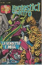 I FANTASTICI QUATTRO 4 corno # 220  LA VENDETTA E' MIA  ms. marvel  killraven