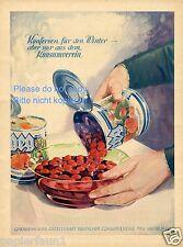 GEG Konserve Reklame 1930 Dose Kompott Winter Obst Leipziger Allerlei Werbung ad