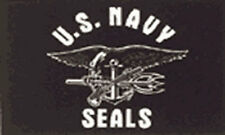 US NAVY SEALS FLAG 5' x 3' United States of America Naval American USA TO CLEAR