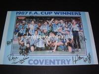 COVENTRY CITY FC 1987 FA CUP FINAL SIGNED REPRINT KEITH HOUCHEN CYRILLE REGIS