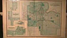 Fort Wayne (Indiana) 1876 map with COA