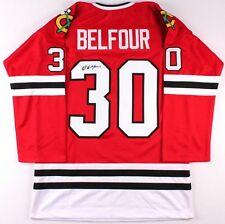 Ed Belfour Signed Chicago Blackhawks Jersey (JSA) NHL Career 1989–2008