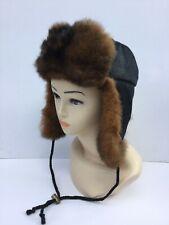 New Zealand Possum Fur & Merino Wool Fabric Trapper Hat
