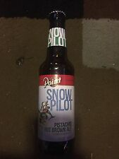 Point Snow Pilot Pistachio Nut Brown Ale Beer Bottle 12 Oz Wisconsin
