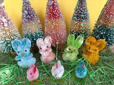 Vintage Easter Lot Vintage Chenille Bunny Rabbits Chicks NOS #1