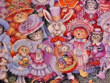 Franklin Mint Easter Purrade by Bill Bell - Easter Bunny & Feline Cat Friends