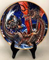 "Royal Doulton Myles Pinkney Franklin Mint ""Dragonlands"" Plate 8""W"