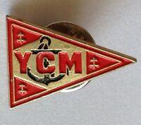 YCM Naval Pennant Pin Badge Anchor Design Military Rare Vintage (D6)