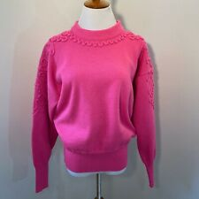Vintage Meister Woman's Hot Pink Wool Ski Sweater Tunic Top Size M L