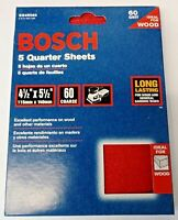 "Bosch SS4R060 5 Piece 60 Grit 4-1/4"" x 5-1/2"" General-Purpose Sanding Sheets"