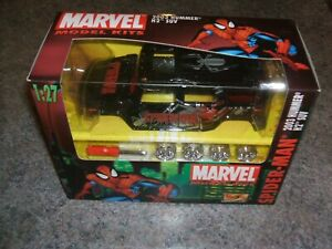 black 2003 HUMMER H2 SUV SPIDERMAN Marvel Model KIT by Maisto 1:27 sealed/NIB