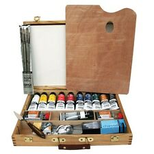 Daler Rowney AOG Artists Quality Cryla Acrylic Colour Deluxe Wooden Box Set