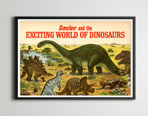 Sinclair Dinosaurs 1967 Brochure POSTER! - (up to 24 x 36) - Classic Cars - Auto