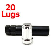 "20x Excalibur 98-0394 Lug Nuts 1/2"" 6-Point Tuner/Spline Chrome Closed End HD EC"