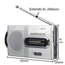 Mini Portable Pocket AM/FM Telescopic Antenna Battery Powered Receiver Radio