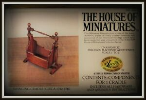 DOLLHOUSE HOUSE OF MINIATURES SWINGING CRADLE KIT, CHARMING ANTIQUE REPLICA