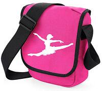 Ballet Theme Shoulder Bags Girls Birthday Gift Bag Black / Pink Ballerina