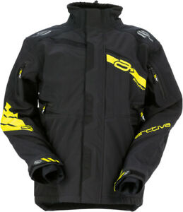 Arctiva Adult Snowmobile Vibe Snow Shell Jacket Black/Yellow S