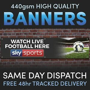 WATCH LIVE FOOTBALL Sky Sports Vinyl Banner - Advertising Pubs or Bars Social