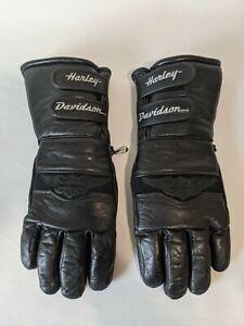 VINTAGE genuine leather Harley Davidson winter gauntlet gloves LIKE NEW COND XS