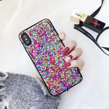 For iPhone X 8 7 6s Plus 5 Bling Sparkle Glitter Slim Silicone Bumper Case Cover